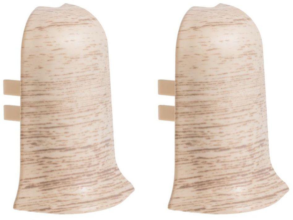Narożnik zewnętrzny do listwy przypodłogowej Ergo 56 Dąb kremowy 2 szt.