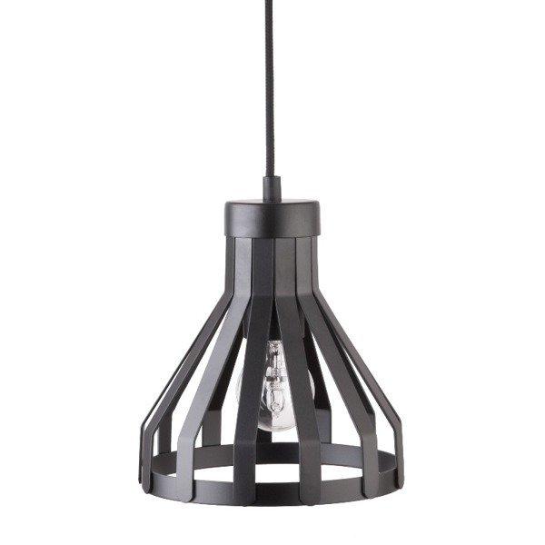 Lampa wisząca KOLA czarna z drutu 18cm