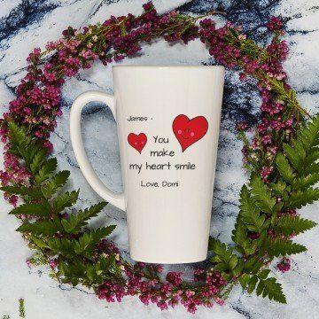 You Make My Heart Smile - Personalizowany Kubek