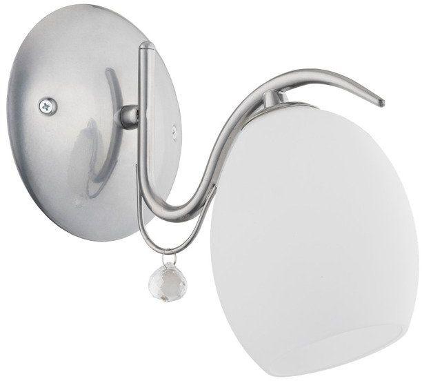 Lampa ścienna MAGIC I chrom/biały śr. 23cm
