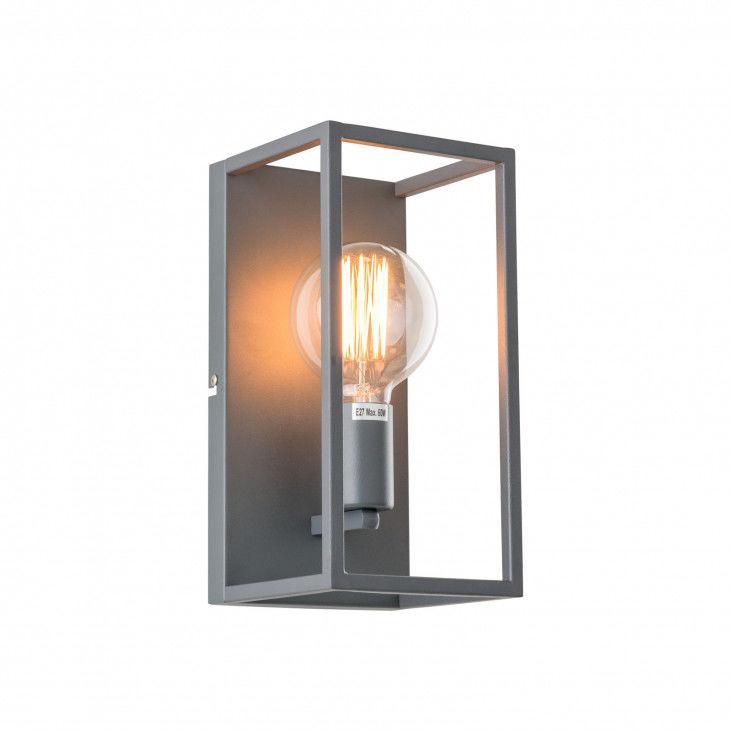 Kinkiet Sigalo MB-BR4366-W1 GR Italux szara dekoracyjna lampa na ścianę