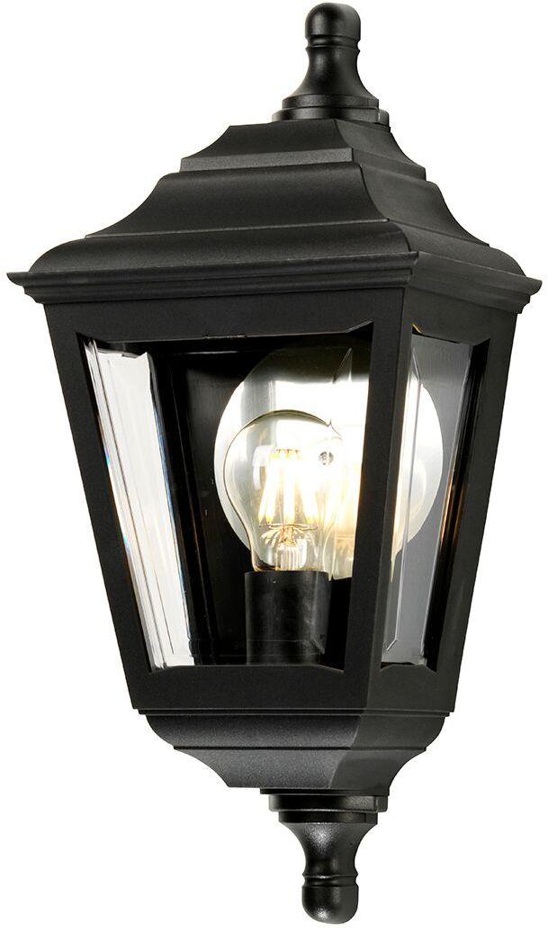 Lampa ścienna zewnętrzna Kerry FLUSH Elstead Lighting czarna oprawa w klasycznym stylu