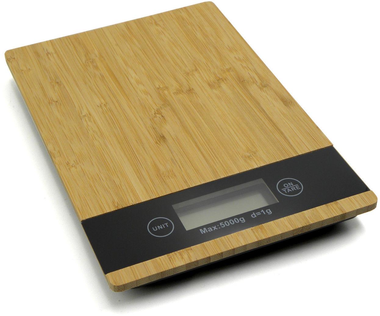 Waga kuchenna bambusowa 5kg LCD 23x16cm (GH03002)
