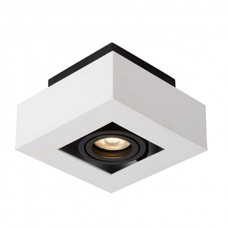 Lampa sufitowa Casemiro IT8001S1-WH/BK Italux biało-czarna nowoczesna lampa na sufit