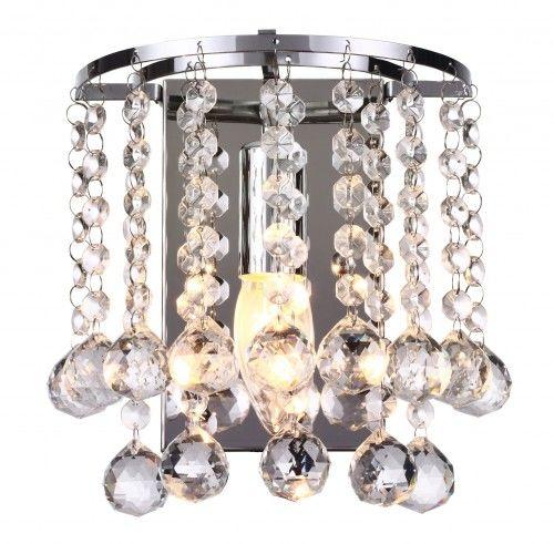 Lampa ścienna kinkiet kryształki LONDON CRYSTAL 227701-06 REALITY