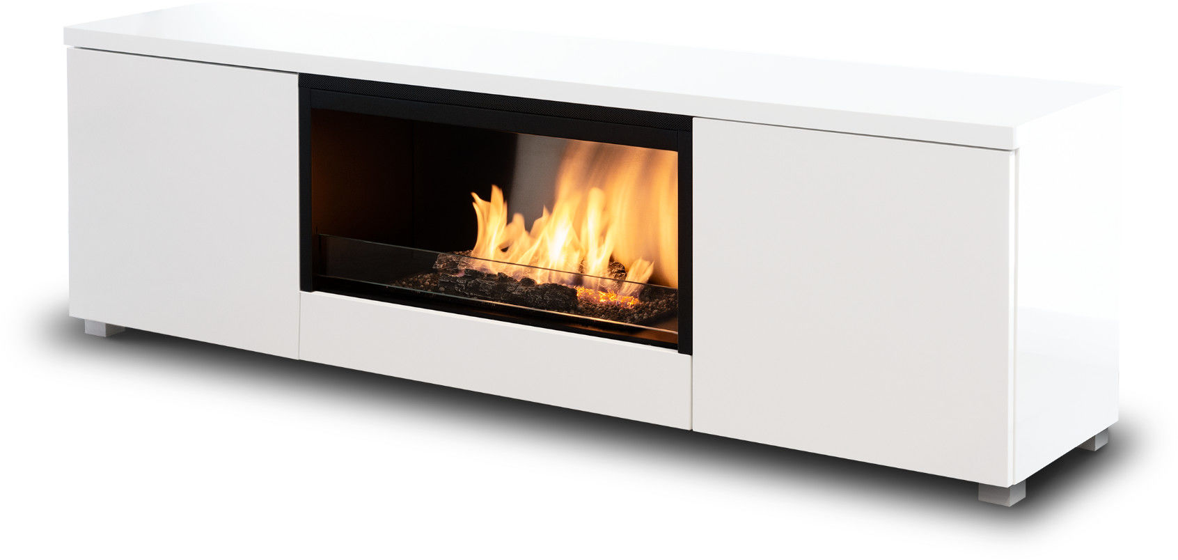 Biokominek Planika Pure Flame TV Box (White MDF) --- OFICJALNY SKLEP Planika