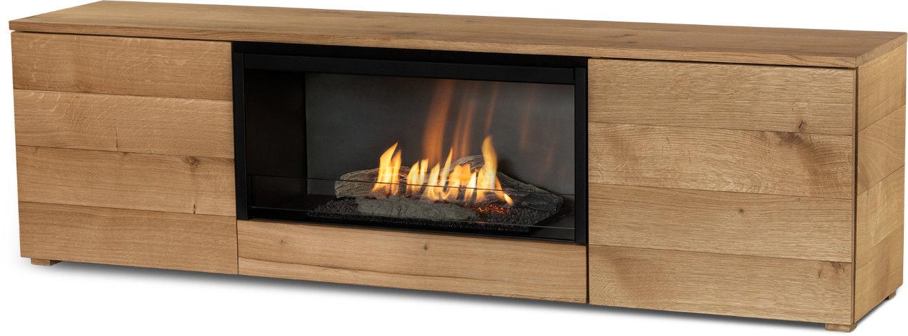 Biokominek Planika Pure Flame TV Box (Oak Veneer) --- OFICJALNY SKLEP Planika