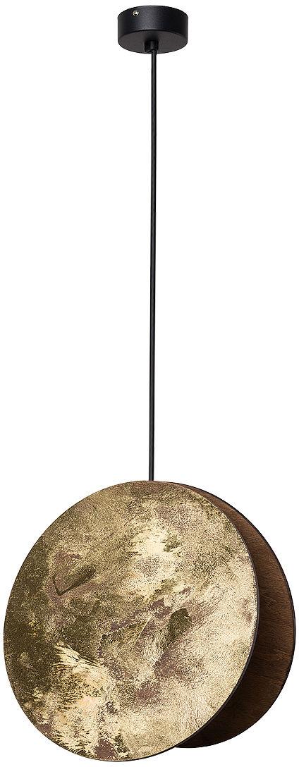 Lampa wisząca Wheel 9028 Nowodvorski Lighting okrągła złota oprawa w stylu design