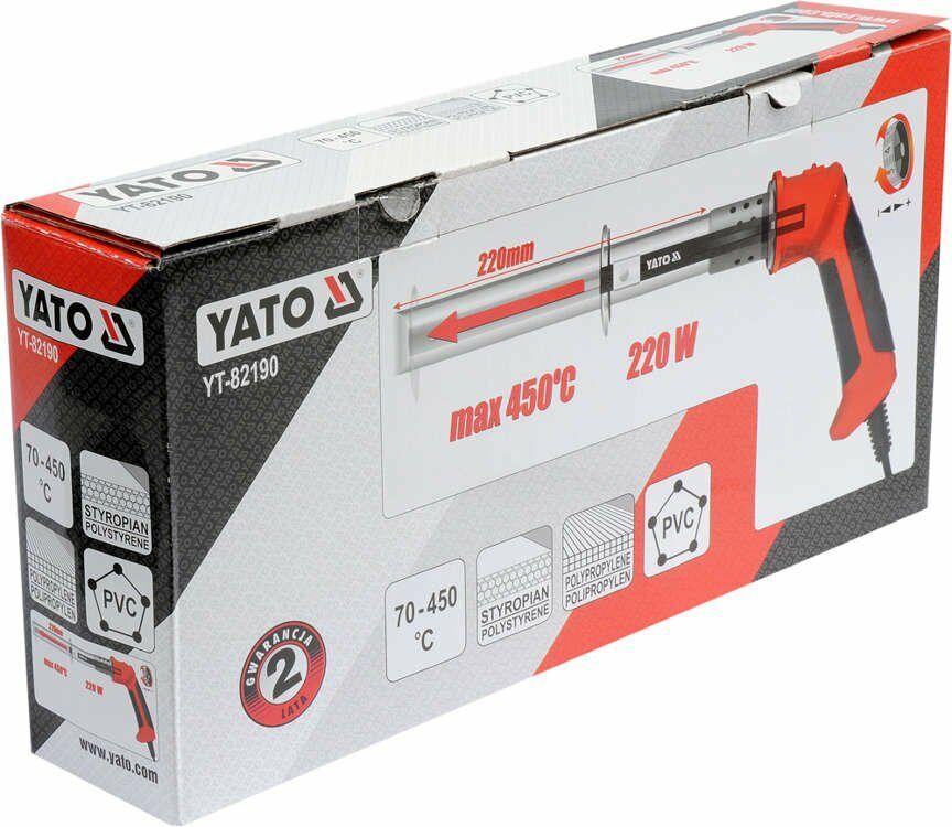 Nóż termiczny do styropianu, pcv, pp Yato YT-82190 - ZYSKAJ RABAT 30 ZŁ