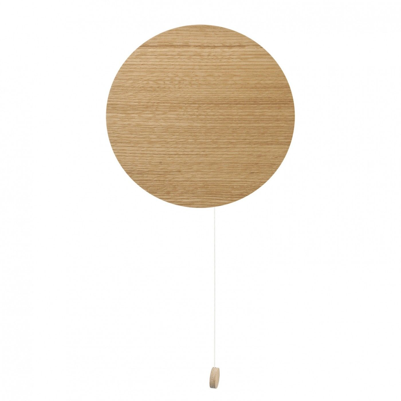 Kinkiet Minimal 9377 Nowodvorski Lighting okrągła oprawa ścienna z drewna dębowego