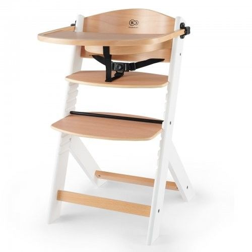 Kinderkraft Enock Krzesełko do karmienia drewniane białe nogi
