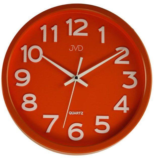 Zegar ścienny JVD HX2413.5 Cichy mechanizm - odcienie czerwonego