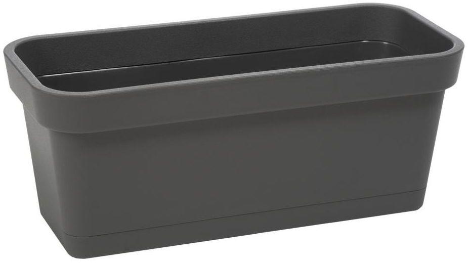 Skrzynka balkonowa 40 x 17 cm antracytowa LOBELIA