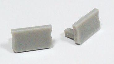 Zaślepka 1 sztuka do profili LED nawierzchniowych wąskich SLIM typ X szara