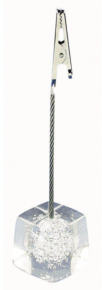 Rayher 8851400 stojak dekoracyjny z drutem i zaciskiem, cokół Ø 2,5 cm