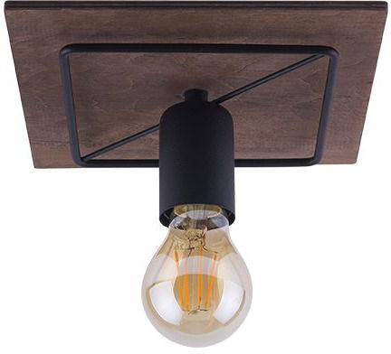 Plafon Coba 9042 Nowodvorski Lighting czarno-brązowa pojedyncza oprawa sufitowa