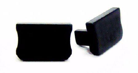 Zaślepka 1 sztuka do profili LED nawierzchniowych wąskich SLIM typ X czarna