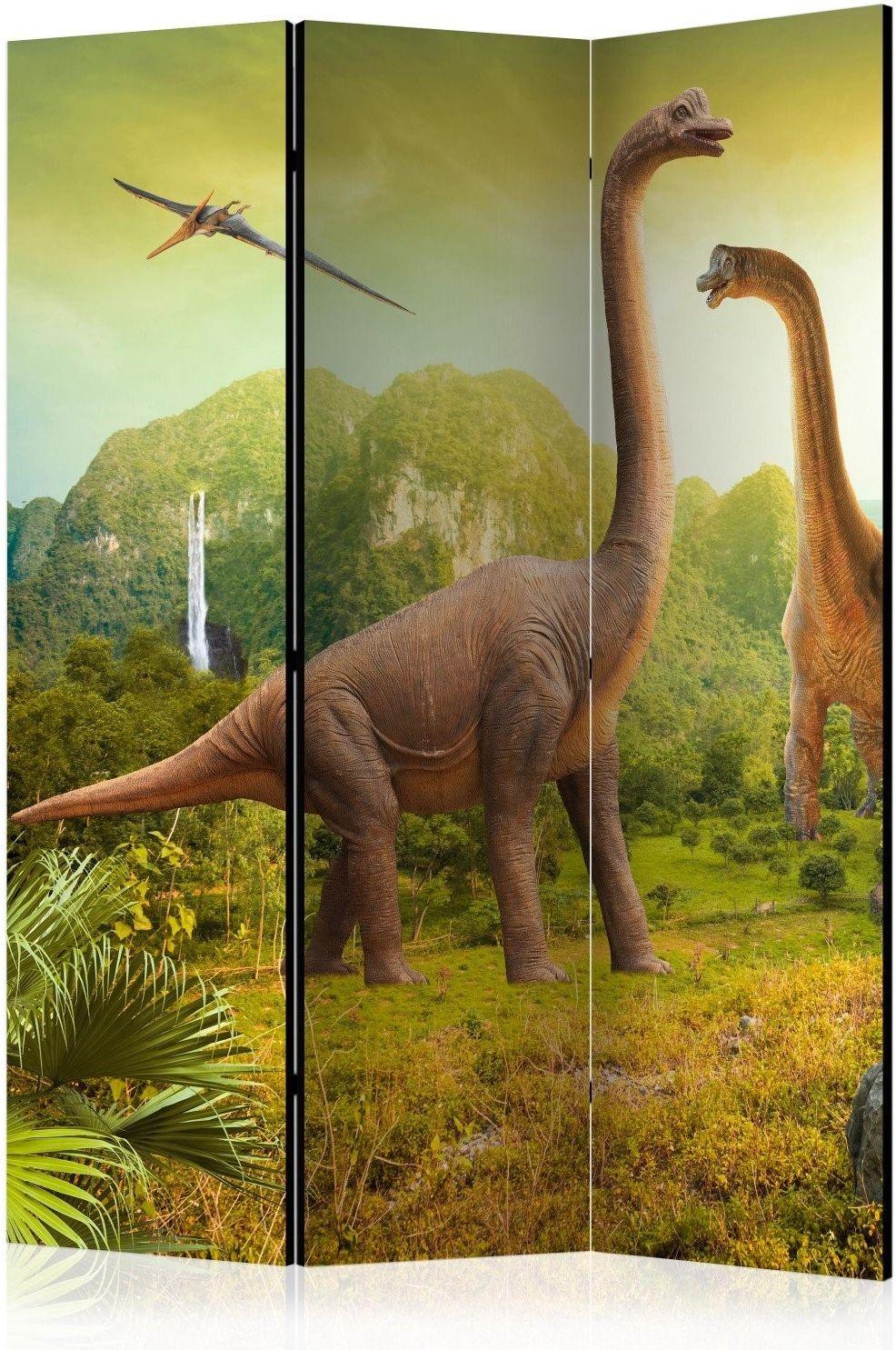 Parawan 3-częściowy - dinozaury [room dividers]