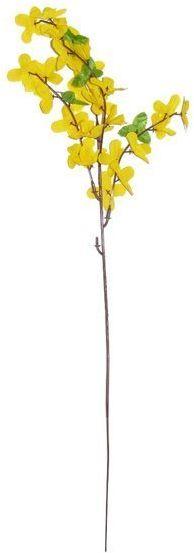 Sztuczna forsycja gałązka dekoracyjna żółta 54cm 1 sztuka VW6711