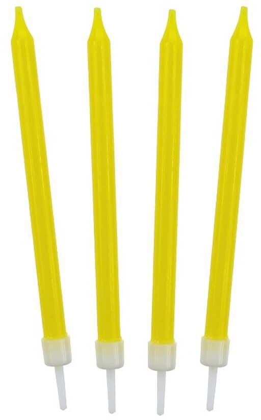 Świeczki urodzinowe żółte - 10 szt.