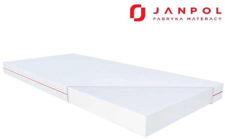 JANPOL HERMES  materac piankowy, Rozmiar - 200x200, Pokrowiec - Smart WYPRZEDAŻ, WYSYŁKA GRATIS, 603-671-572