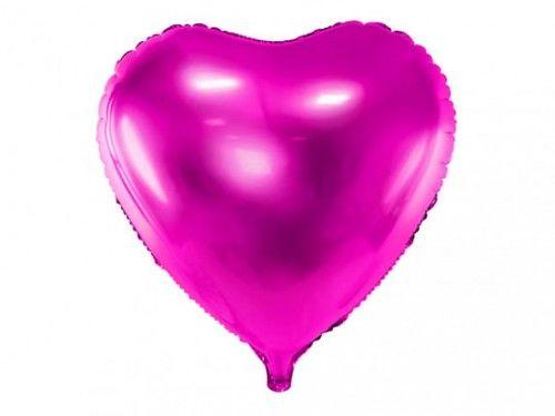 Balon foliowy Ciemno Różowe Serce