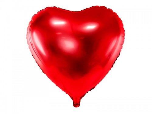 Balon foliowy duże czerwone Serce