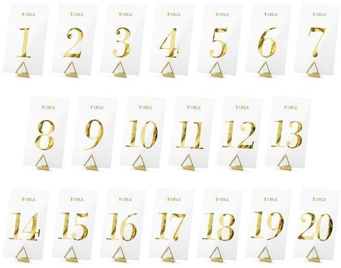 Transparentne numery na stół 7x12cm 20 sztuk KPZ4-019ME