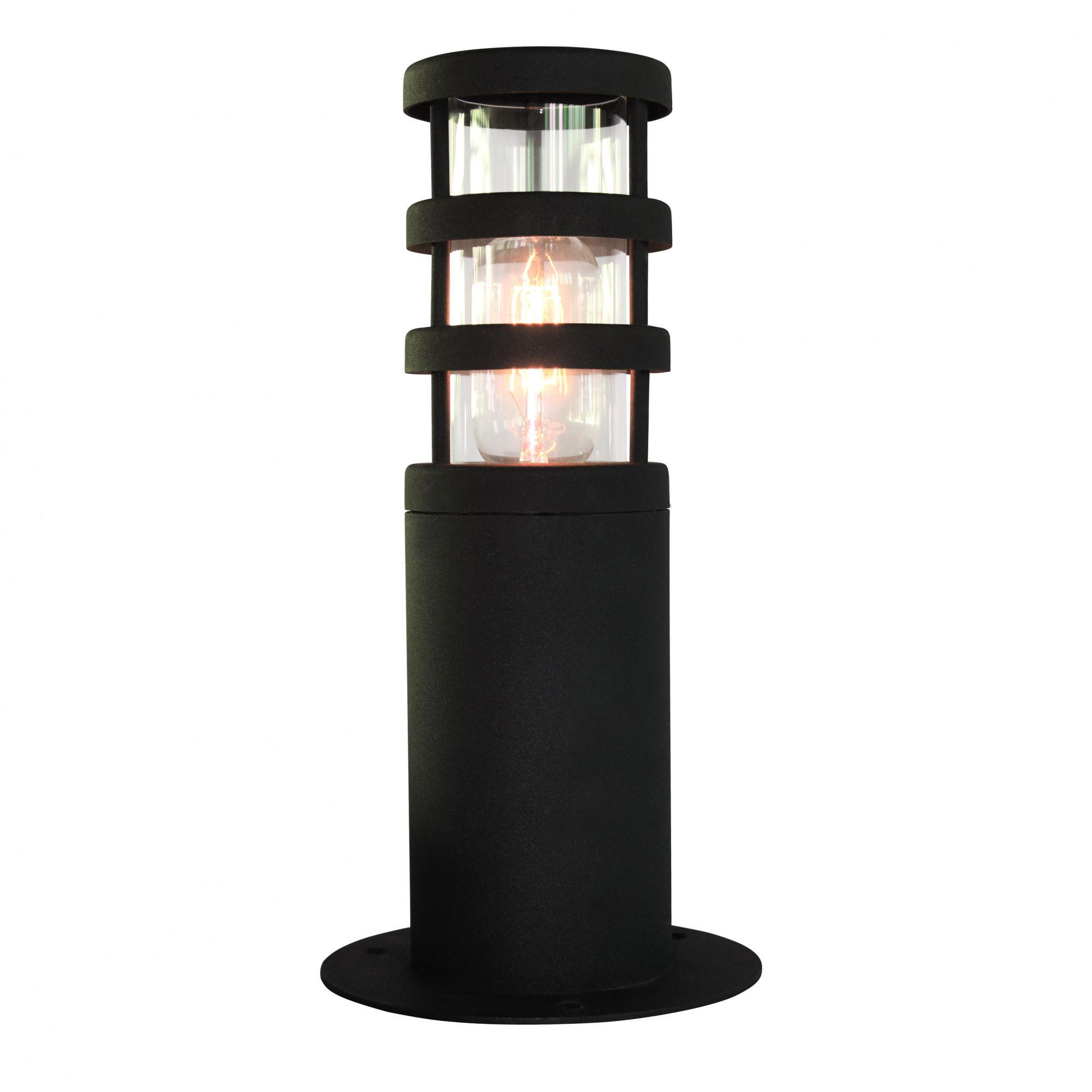 Lampa stojąca zewnętrzna Hornbaek PED Elstead Lighting czarna oprawa w nowoczesnym stylu