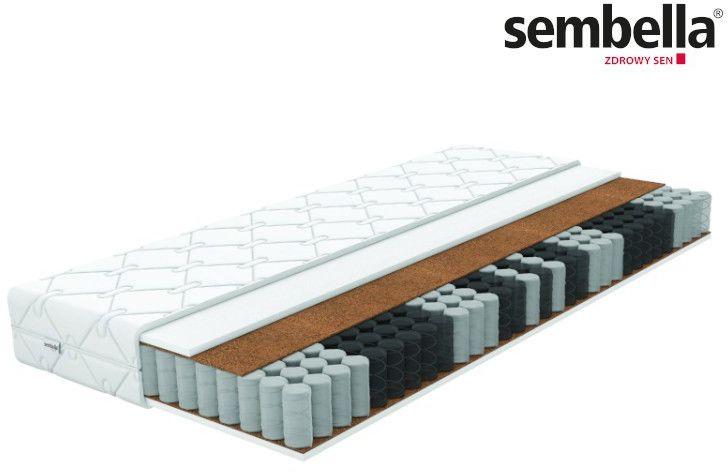 SEMBELLA SAMBA - materac kieszeniowy, sprężynowy, Rozmiar - 80x200 NAJLEPSZA CENA, DARMOWA DOSTAWA