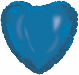 Procos 92412  balon foliowy serce, rozmiar 46 cm, niebieski, hel, balon, urodziny, dekoracja, prezent