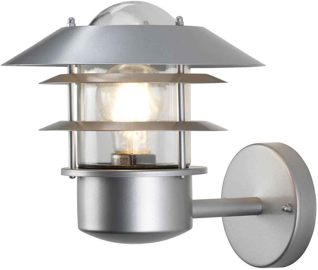 Kinkiet zewnętrzny Helsingor Elstead Lighting srebrna oprawa w nowoczesnym stylu