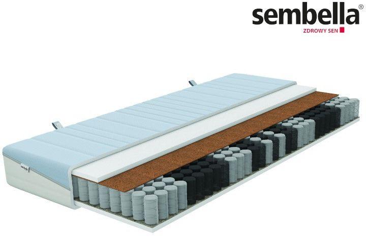SEMBELLA SMART NATURA  materac kieszeniowy, sprężynowy, Rozmiar - 80x200 NAJLEPSZA CENA, DARMOWA DOSTAWA