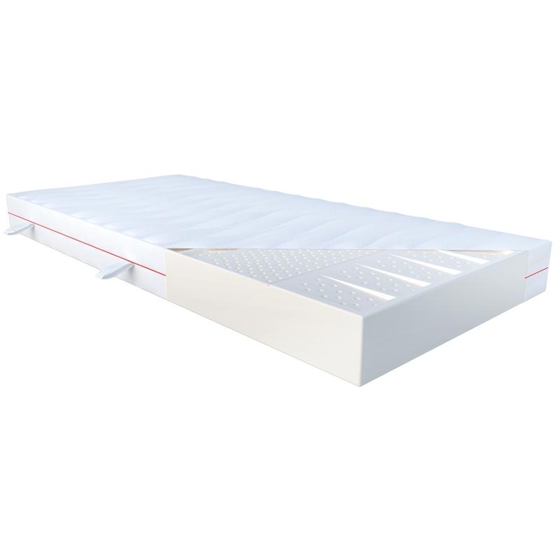 Materac DEMETER JANPOL lateksowy : Rozmiar - 160x190, Pokrowce Janpol - Silver Protect
