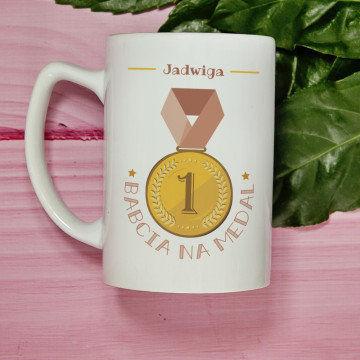 Babcia na medal - Personalizowany Kubek