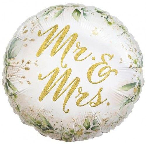 Balon foliowy na ślub i wesele Mr and Mrs
