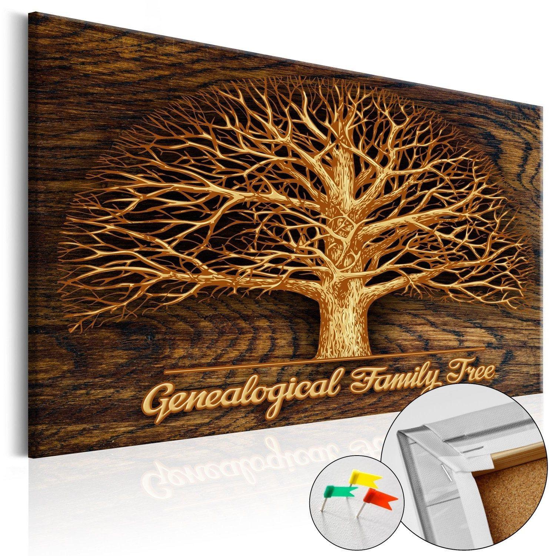 Obraz na korku - drzewo rodzinne [tablica korkowa]