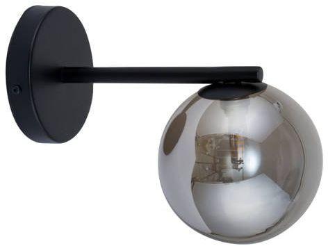Lampa ścienna, szklana kula ROMA KINKIET szary 32087