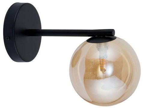 Lampa ścienna, szklana kula ROMA KINKIET bursztynowy 32088