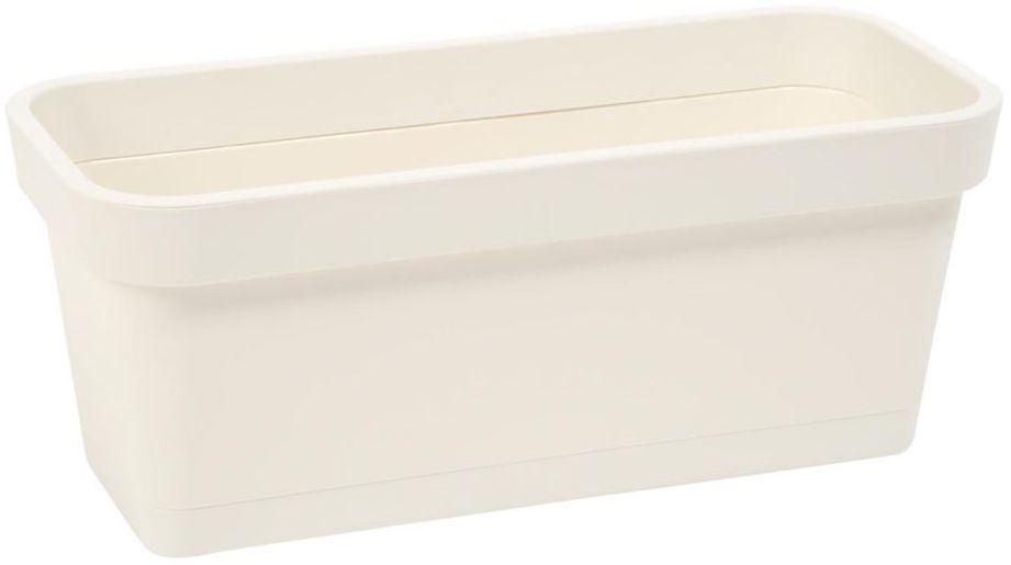 Skrzynka balkonowa 60 x 17 cm kremowa LOBELIA