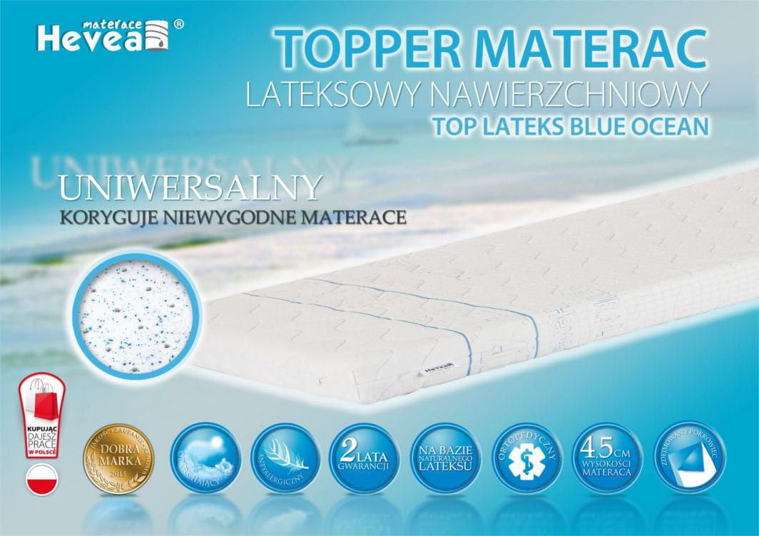 Materac nawierzchniowy Hevea TOPPER Lateks