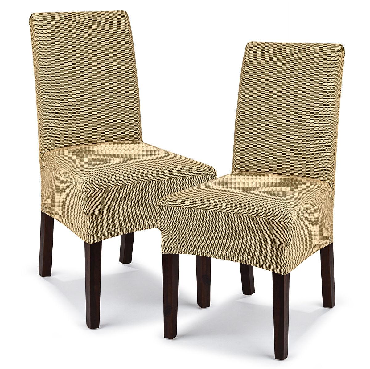 4Home Multielastyczny pokrowiec na krzesło Comfort, beżowy, 40 - 50 cm, zestaw 2 szt.