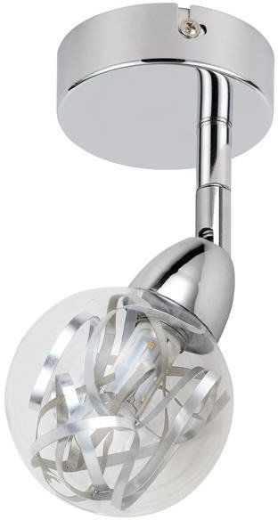 BOLO LAMPA KINKIET 1X6W LED SMD GŁÓWKA 6 OKRĄGŁA 1E Z PRZEGUBEM KLOSZ WYMIENNY KD SYSTEM CHROM/BEZBARWNY