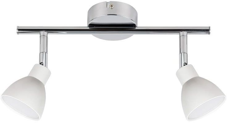 ROY LAMPA SUFITOWA LISTWA 2X5W LED COB GŁÓWKA OKRĄGŁA 1E Z PRZEGUBEM KD SYSTEM BIAŁY