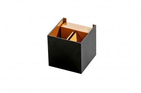 Kinkiet Leticia AZ2814 AZzardo czarno-złota oprawa w nowoczesnym stylu