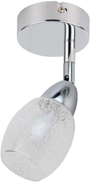RICO LAMPA KINKIET 1X6W LED SMD GŁÓWKA OKRĄGŁA 1E Z PRZEGUBEM KD SYSTEM KLOSZ WYMIENNY CHROM/BEZBARWNY