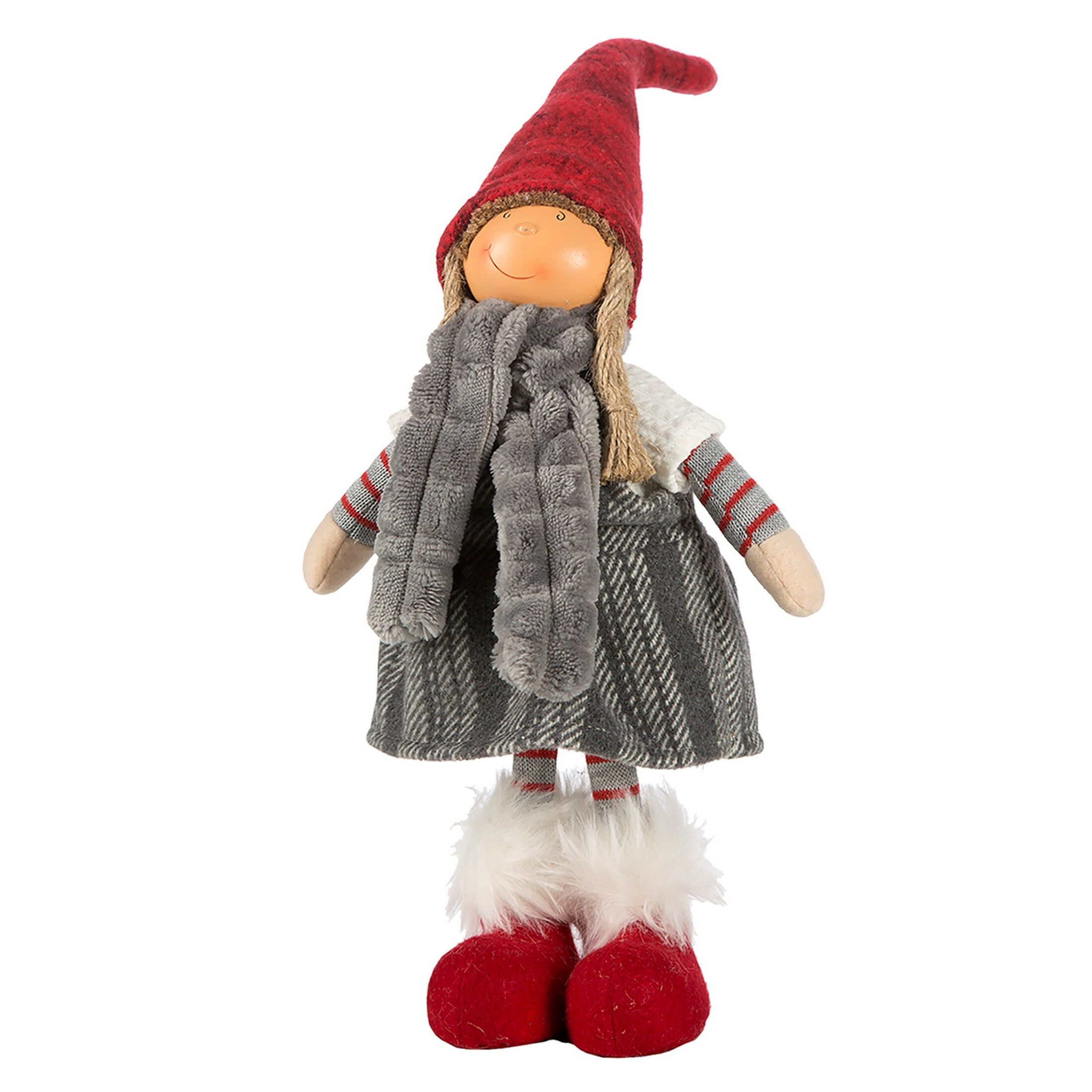 Ozdoba świąteczna Doll lalka 20A 32cm czerwona srebrna