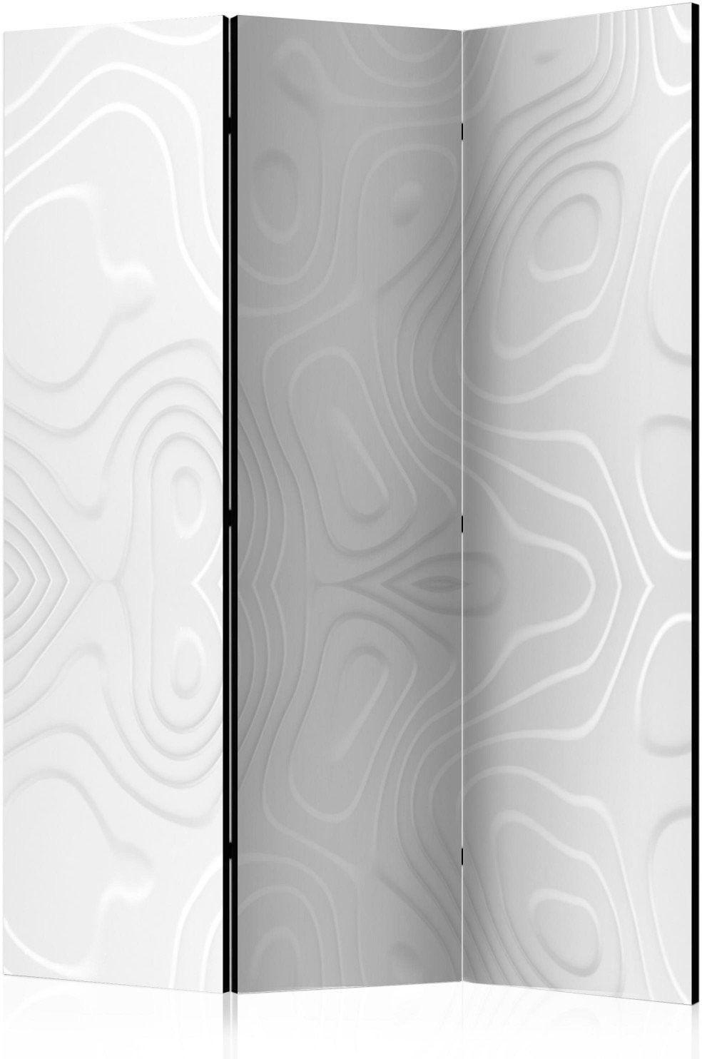 Parawan 3-częściowy - parawan: białe fale