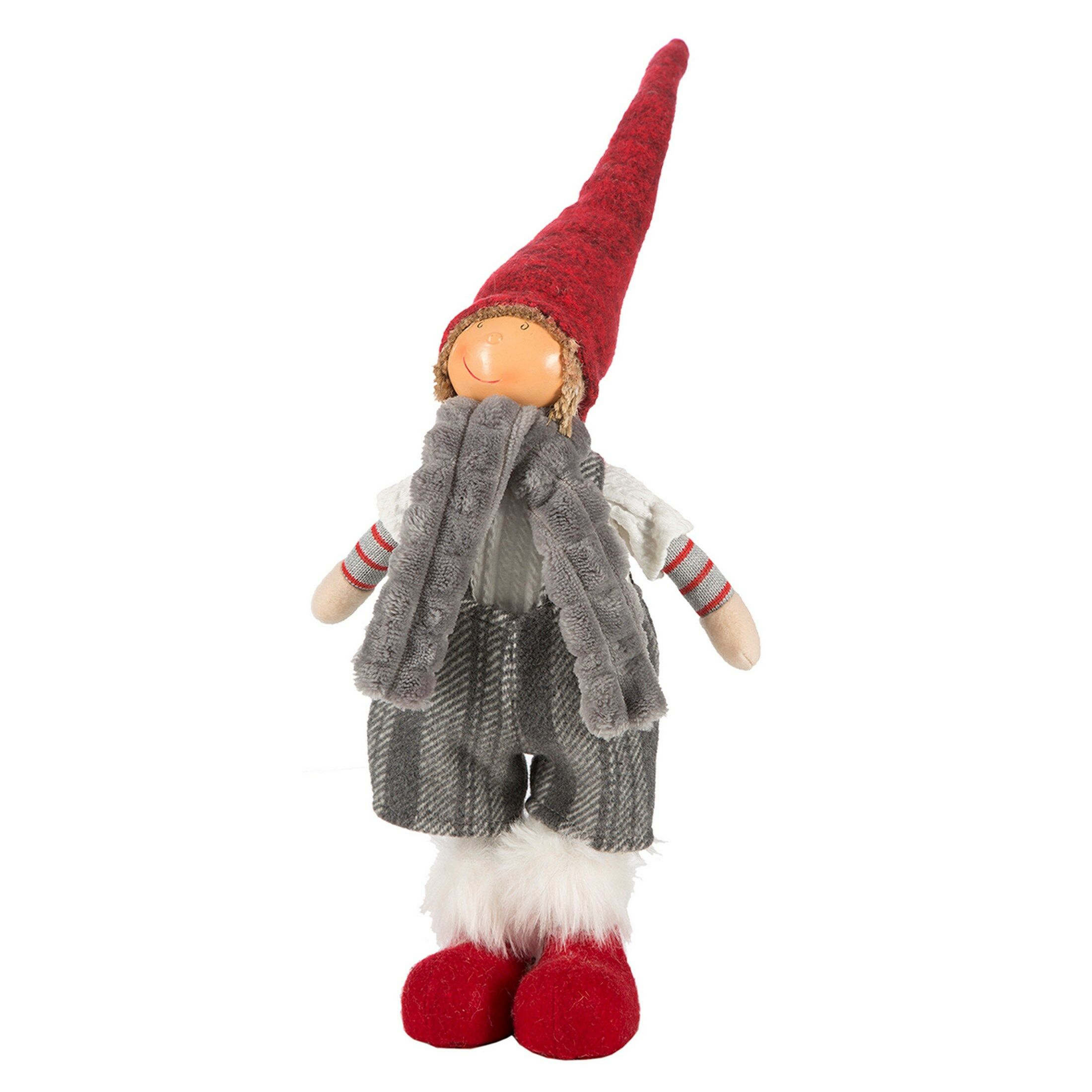 Ozdoba świąteczna Doll lalka 20B 32cm czerwona srebrna