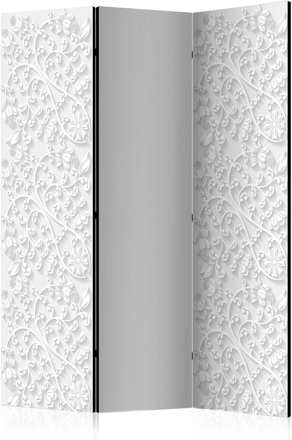 Parawan 3-częściowy - parawan: kwiatowy deseń